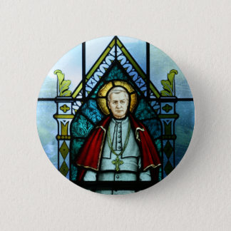 Paus Heilige Pius X het Art. van het Ronde Button 5,7 Cm
