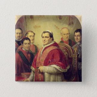 Paus Pius IX 1847 Vierkante Button 5,1 Cm