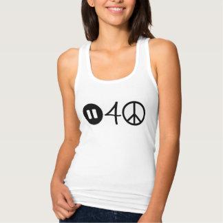 Pauze voor vredes racerback mouwloos onderhemd tanktop