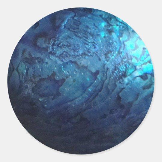 pawa shell ronde sticker