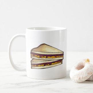 PB&J het Voedsel van de Lunch van de Sandwich van Koffiemok