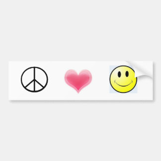peace%20symbol, Harten, smiley Bumpersticker