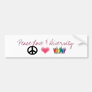 peace_4, Harten, diversiteit, de Liefde van de Vre Bumpersticker