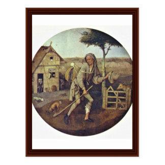 Pedlar., door Hieronymus Bosch Briefkaart