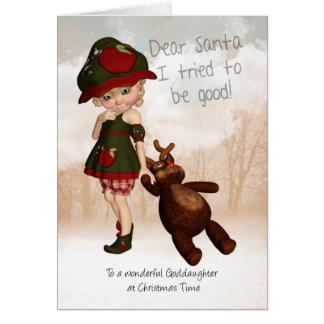 Peetdochter, de Beste Retro Leuke Kerstkaart van Briefkaarten 0