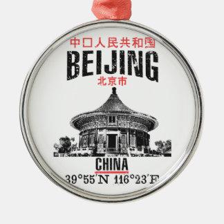 Peking Zilverkleurig Rond Ornament