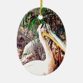 pelikanen keramisch ovaal ornament