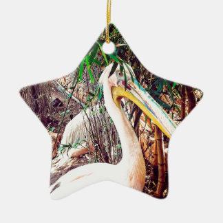 pelikanen keramisch ster ornament