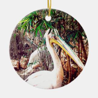 pelikanen rond keramisch ornament