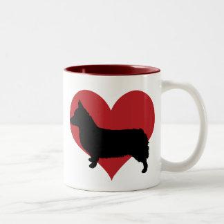 Pembroke Welse Corgi Tweekleurige Koffiemok