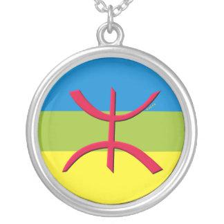 pendentif berbere cercle zilver vergulden ketting