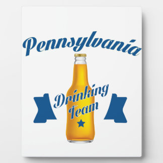 Pennsylvania dat team drink fotoplaat
