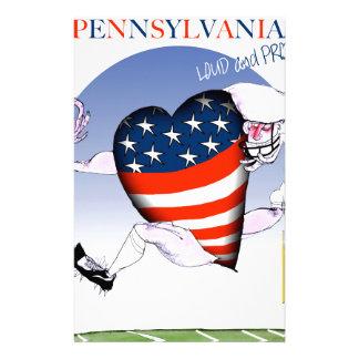 Pennsylvania luide en trotse, tony fernandes briefpapier