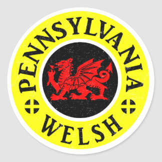 Pennsylvania Welse Amerikaan Ronde Sticker