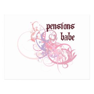 Pensioenen Babe Briefkaart