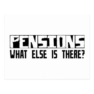 Pensioenen wat anders daar is? briefkaart