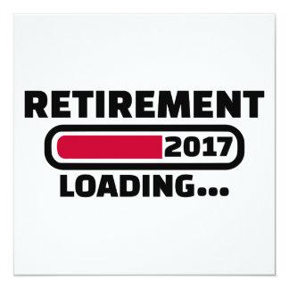 Pensionering 2017 13,3x13,3 vierkante uitnodiging kaart