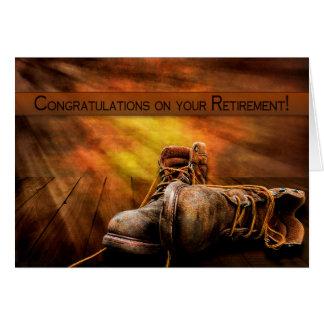 Pensionering - Gelukwensen - de Laarzen van de Kaart