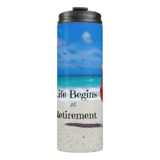 Pensionering, Ijzige Drank op het Strand Thermosbeker