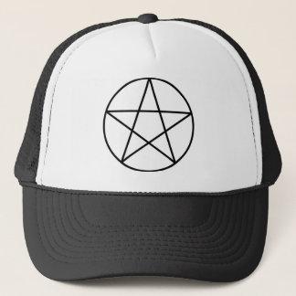 Pentagram binnen cirkel trucker pet