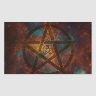 Pentagram Rechthoekige Sticker