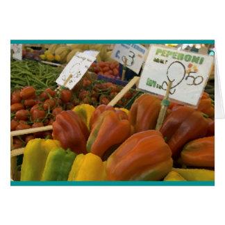 Peper in de Rialto Markt, Venetië, Italië Wenskaart