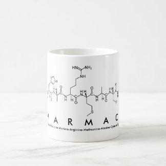 Peptide van de apotheek woordmok koffiemok
