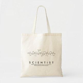 Peptide van de wetenschapper woordzak draagtas
