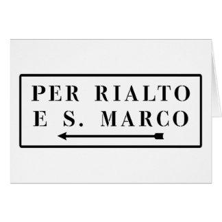 Per Rialto e S. Marco, Venetië, het Italiaanse Kaart
