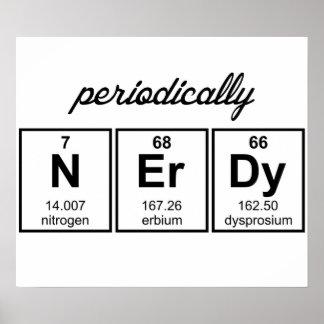 Periodiek de Symbolen van het Element Nerdy Poster
