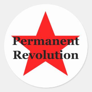 Permanente Revolutie Ronde Sticker