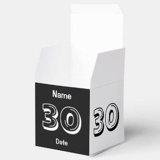 Personaliseer 30ste Verjaardag Bedankdoosje