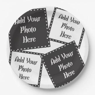 """Personaliseer 4 Foto's 9 de"""" Borden van het Papieren Bordje"""