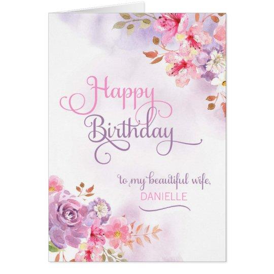 Personaliseer Aan Vrouw Gelukkige Verjaardag Kaart Zazzle Nl