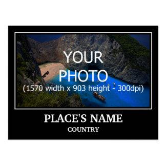 Personaliseer Foto, de Naam van de Plaats & het Briefkaart