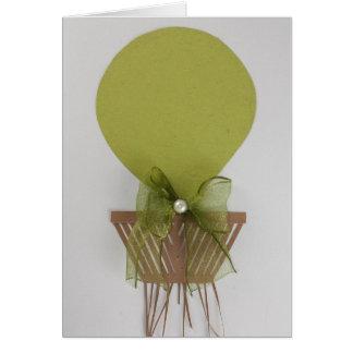 Personaliseer groene hete luchtballon wenskaart