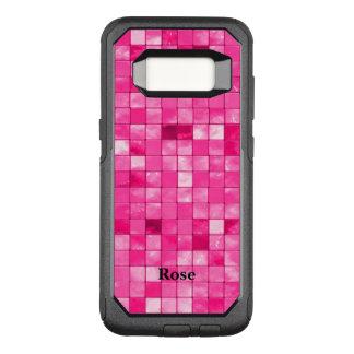 Personaliseer:  Het fuchsiakleurig Patroon van de OtterBox Commuter Samsung Galaxy S8 Hoesje