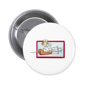 Personaliseer met naam - de Super Verpleegster Speld Button