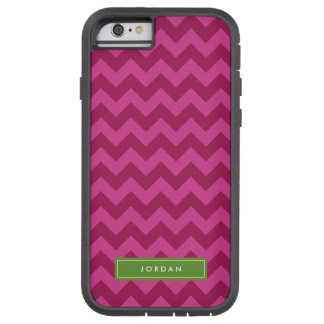 Personaliseer met Naam Trendy Paarse Chevron Tough Xtreme iPhone 6 Hoesje