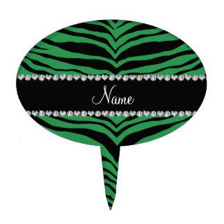 Personaliseer strepen van de naam de groene tijger taart prikker