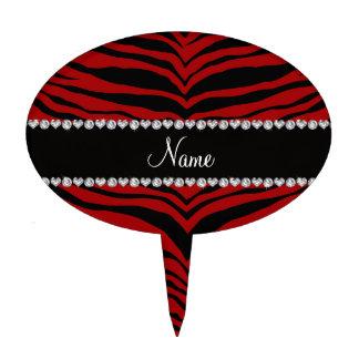 Personaliseer strepen van de naam de rode tijger cake topper