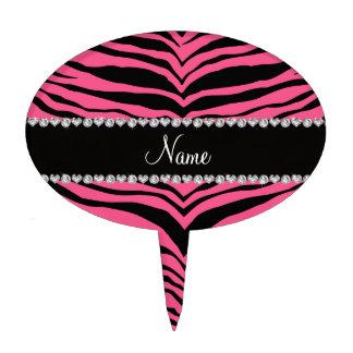 Personaliseer strepen van de naam de roze tijger cake topper