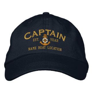 Personaliseer voor de Naam van het Jaar Kapitein Geborduurde Pet