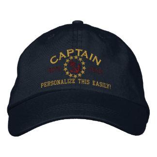 Personaliseerbare JAAR en Namen Kapitein Yacht Geborduurde Pet