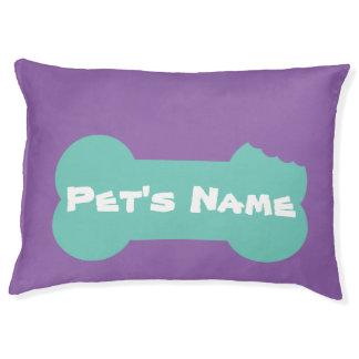 Personaliseerde het Aqua Gekauwde Been Groot Bed 1 Hondenbedden