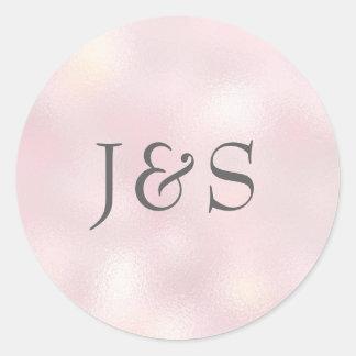Personaliseerde het Roze huwelijk van de Ronde Sticker