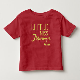 Personaliseerde Weinig Misser Threenager Birthday Kinder Shirts