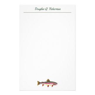 Persoonlijke de Viskunde van de Visserij van de Briefpapier