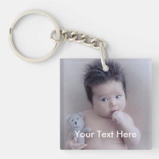 Persoonlijke Foto en tekst Keychain Sleutelhanger