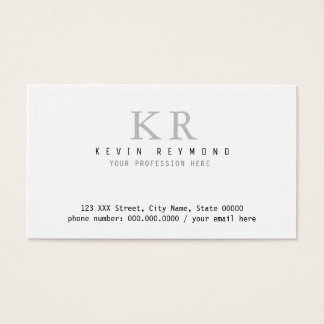 persoonlijke minimalistische fundamentele witte visitekaartjes